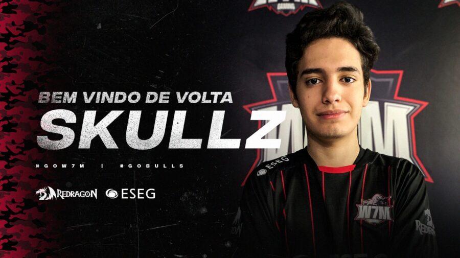 """W7M Gaming traz Felipe """"Skullz"""" de volta"""