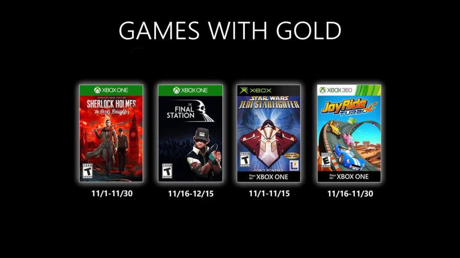 Jogos do Games with Gold de novembro são revelados e gera insatisfação em jogadores