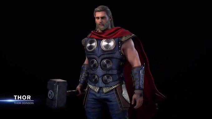 Jogo dos Vingadores revela inspirações para o design de Thor