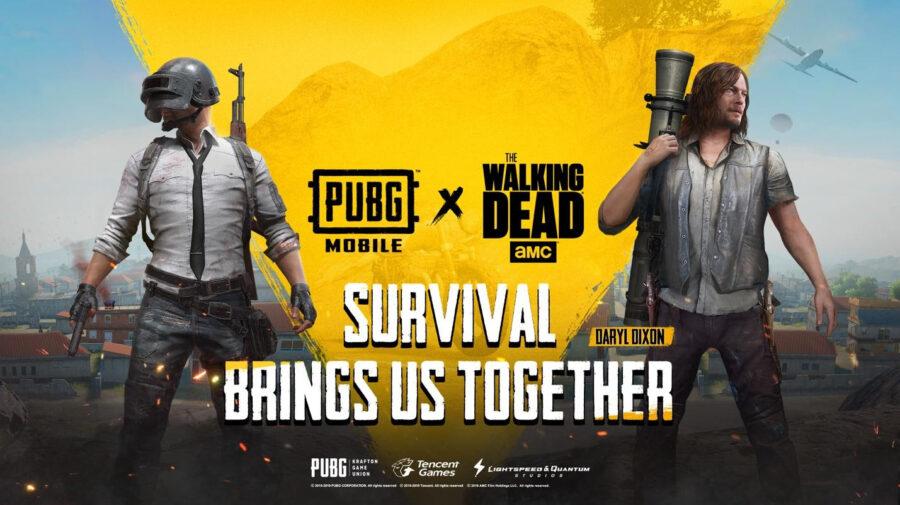 PUBG MOBILE anuncia parceria com The Walking Dead