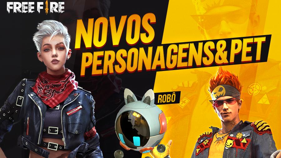 Free Fire: dois novos personagens chegarão na próxima atualização do game
