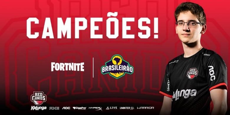 RED Canids é campeã do Brasileirão de Fortnite