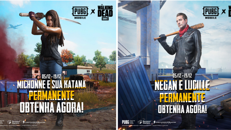 PUBG MOBILE recebe Negan e Michonne de The Walking Dead