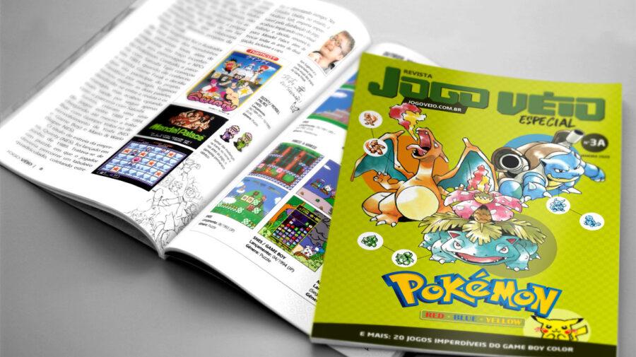 Nova Revista Jogo Véio é dedicada aos clássicos games Pokémon de Game Boy