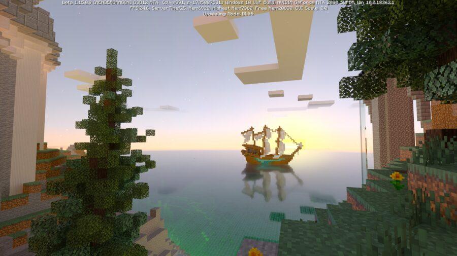 Veja imagens do mapa Crystal Palace de Minecraft em Ray Tracing e DLSS