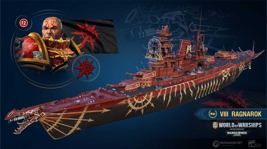 World of Warships ganhará conteúdos baseados em Warhammer 40.000