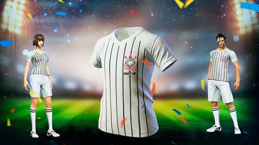 Free Fire: Camisa oficial do Corinthians chega ao jogo nesta quinta (18)