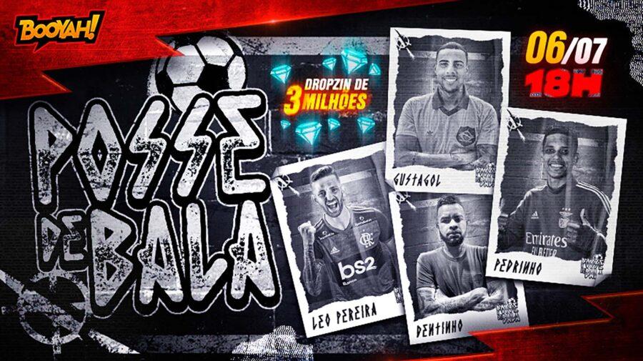 Novo evento em Free Fire terá live com jogadores de futebol conhecidos