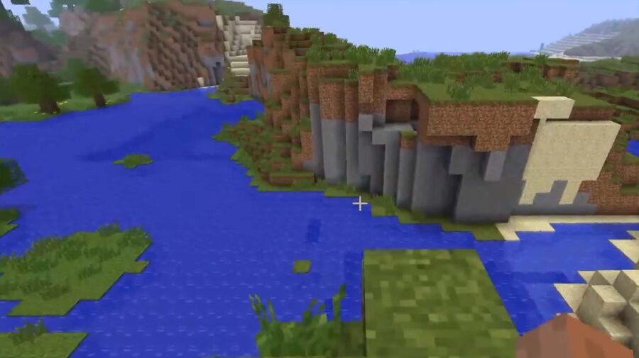 Jogadores de Minecraft encontram mundo que aparece na tela de título