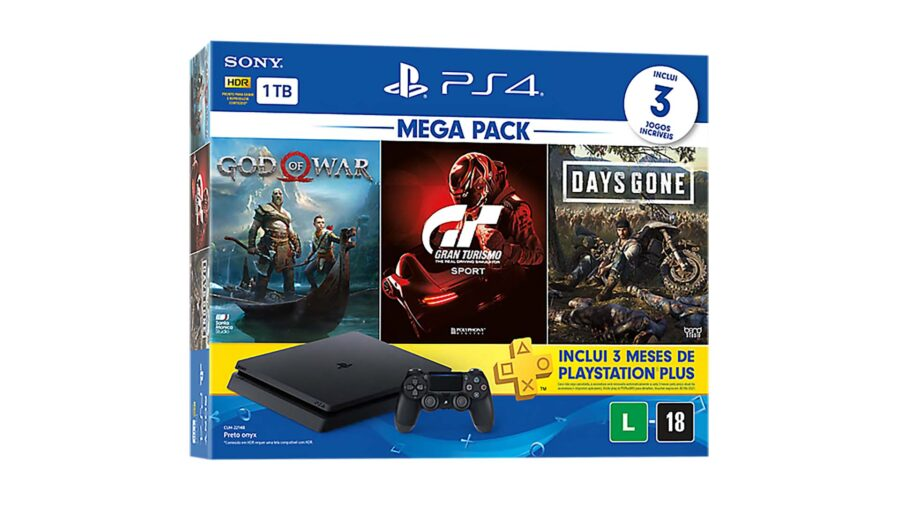 PS4 recebe novo bundle no Brasil contendo God of War, GT Sport e Days Gone