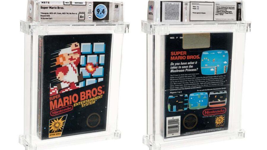 Cópia lacrada de Super Mario Bros. é vendida por US$ 114 mil