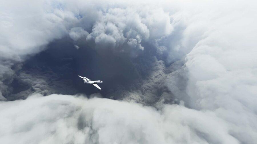 Jogadores do Microsoft Flight Simulator estão voando dentro do Furacão Laura