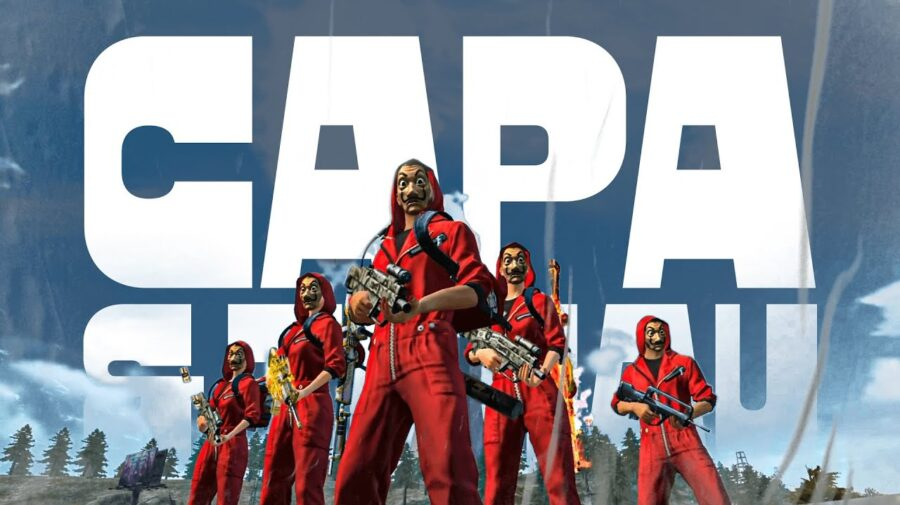 """""""Capa e Tchau"""" é o projeto musical para evento Free Fire x La Casa de Papel"""
