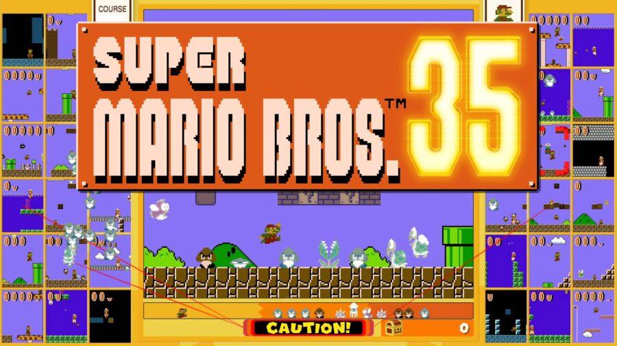 Super Mario Bros. 35 coloca vários jogadores competindo para ver quem é o melhor
