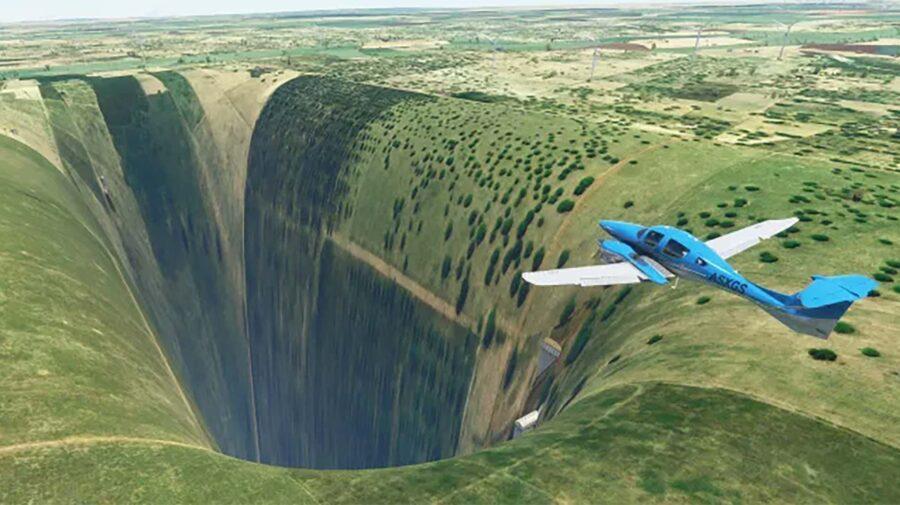 Abismo encontrado no Brasil em Microsoft Flight Simulator tem até um aeroporto
