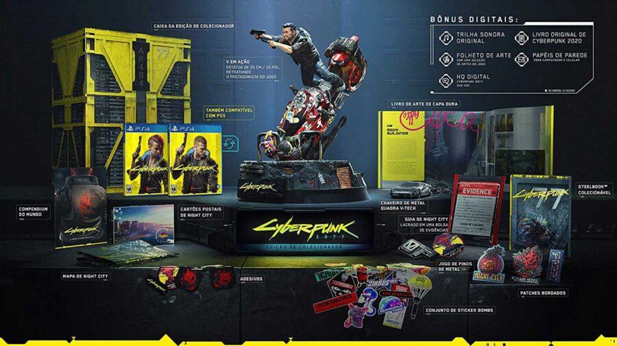 Atualizado (2): Edição de colecionador de Cyberpunk 2077 está em pré-venda no Brasil por R$ 2.999,90