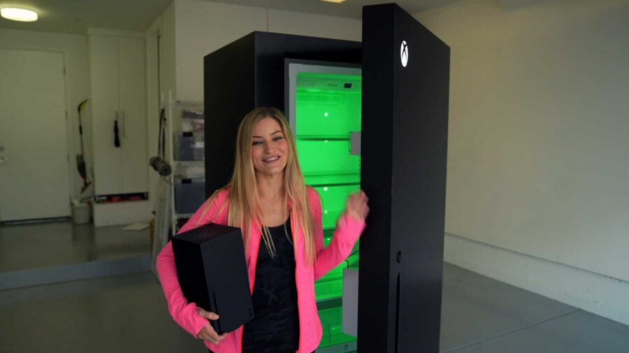 Microsoft cria geladeira Xbox Series X, transformando um meme em realidade