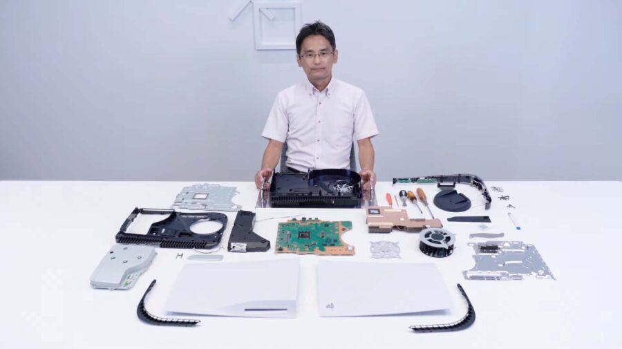 Sony mostra PS5 sendo desmontado e confirma slot M.2 para expandir armazenamento SSD