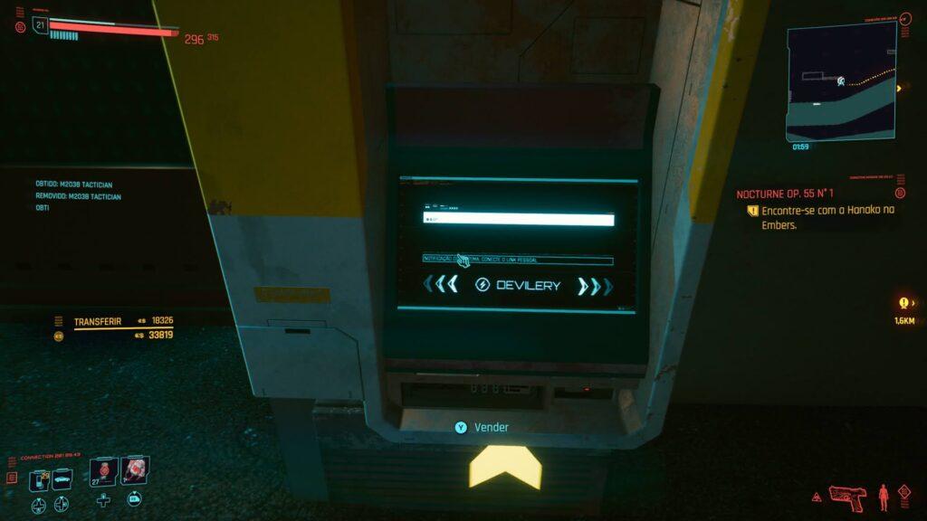 ponto de coleta cyberpunk 2077