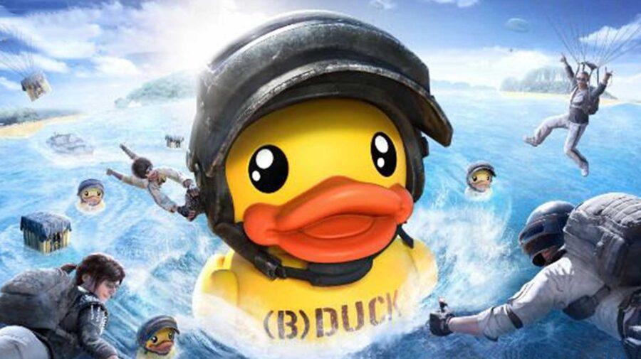 Pato gigante de borracha invade o campo de batalha de PUBG Mobile