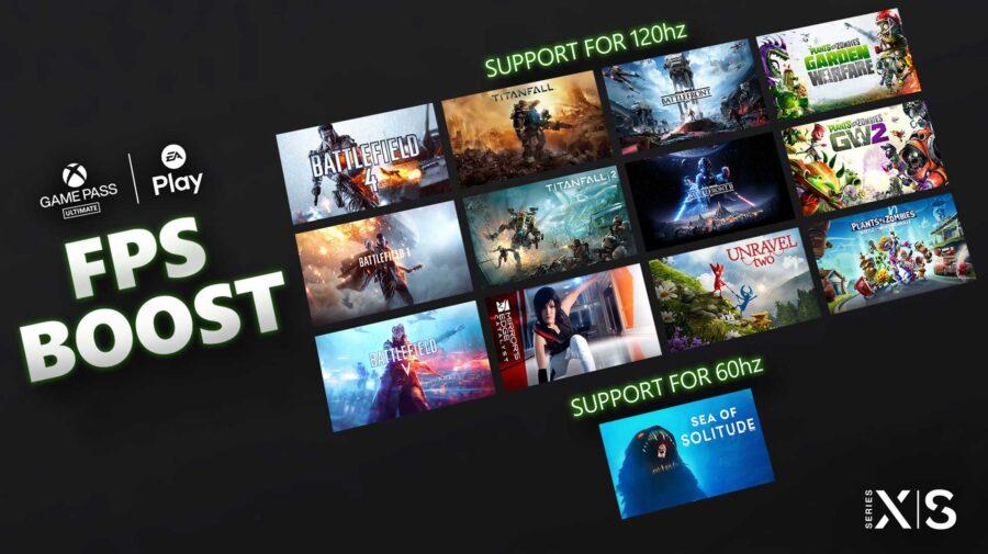 FPS Boost do Xbox Series chega hoje para 13 jogos da Electronic Arts