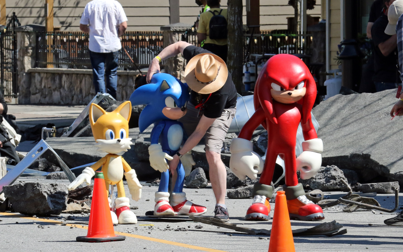 Knuckles é confirmado em Sonic 2: O Filme pelas fotos de bastidores